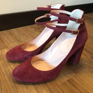 Kate Spade Baneera Red Chestnut Burgundy Heels